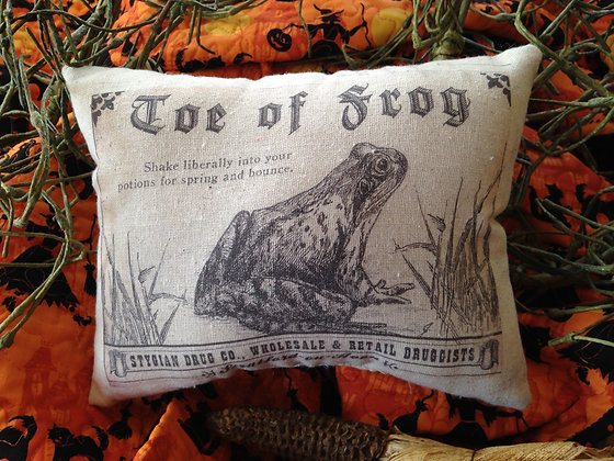 """Vintage """"Toe of Frog"""" Pantry Pillow"""