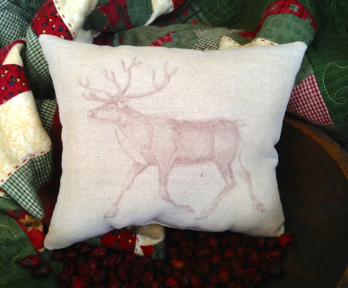 "Olde Vintage ""Reindeer"" Pantry Pillow"