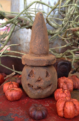 Olde Pantry Blackened Beeswax Pumpkin Witch