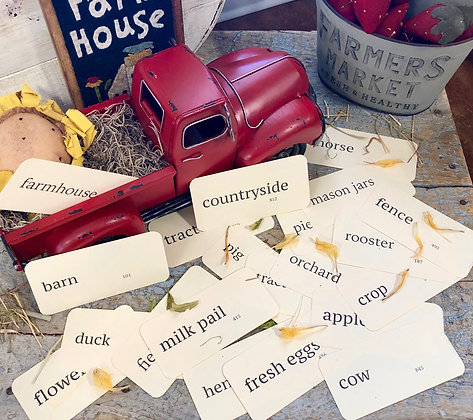NEW!  Vintage FARM Flash Card Set