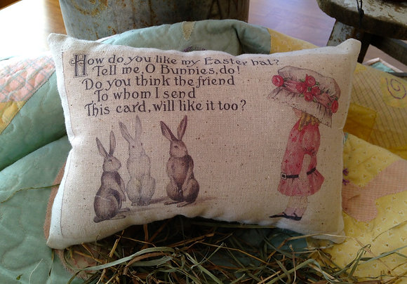"""Vintage """"Easter Hat"""" Pantry Pillow"""