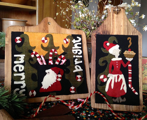 "#259 ""Merry and Bright"" Wool Appliqué"