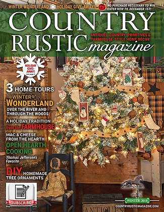 NEW!  Country Rustic Magazine Winter 2018