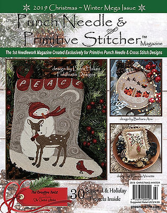 NEW!  Punch Needle & Primitive Stitcher 2019 Christmas
