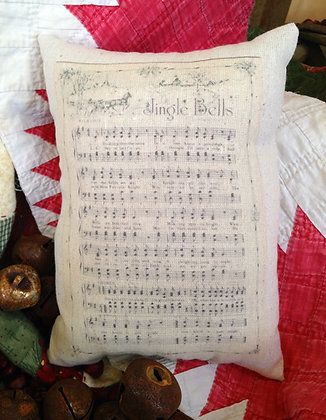 "Olde Vintage ""Jingle Bells"" Pantry Pillow"