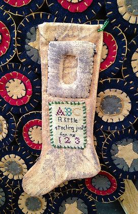 Olde Primitive Christmas Stocking