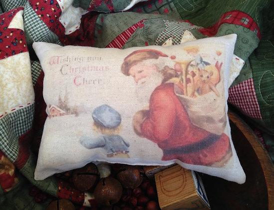 "Olde Vintage ""Christmas Cheer"" Pantry Pillow"