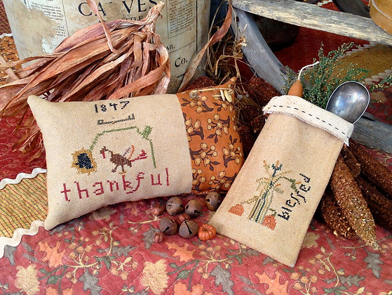 """NEW!  Olde """"Thankful"""" Counted Threads Pattern"""