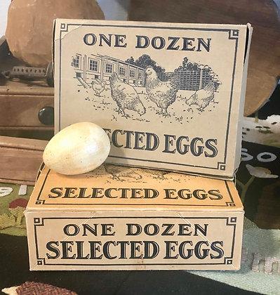 NEW!  Olde Vintage Egg Boxes Set of Two