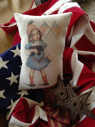 "Vintage ""Freedom"" Pantry Pillow"
