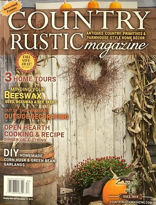 NEW!  Country Rustic Magazine Fall 2018