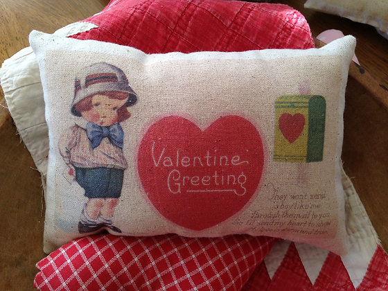 "Vintage ""Valentine Greeting"" Pantry Pillow"