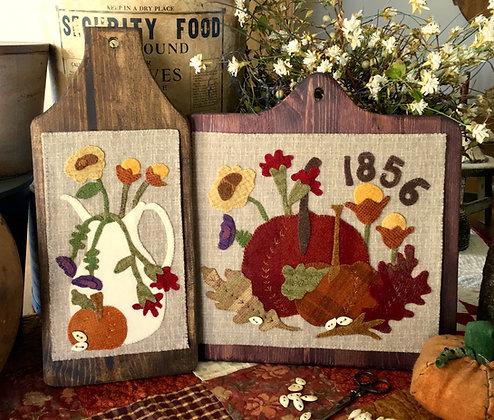 """#281 """"Autumn Grace"""" Wool Appliqué"""
