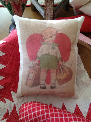 "Vintage ""Just Say"" Pantry Pillow"
