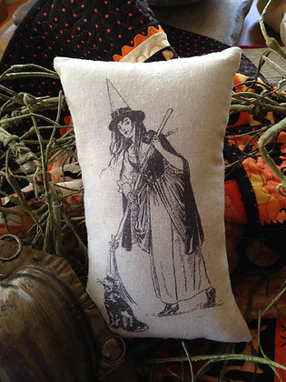 """Vintage """"Witch"""" Pantry Pillow"""