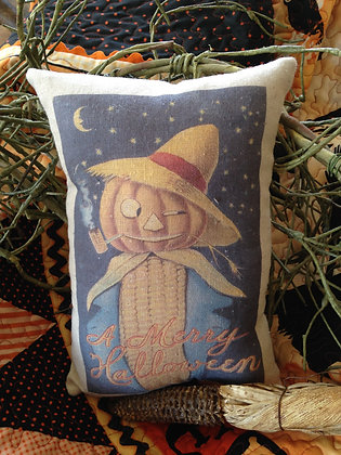 "Olde Vintage ""Merry Halloween"" Pantry Pillow"