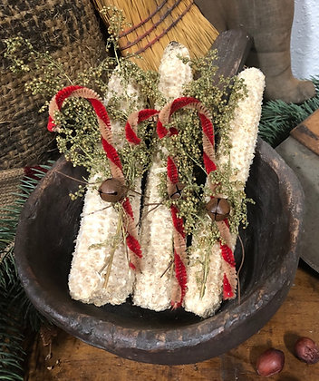 "NEW!   ""Christmas Corn Cobs Set of Three"""