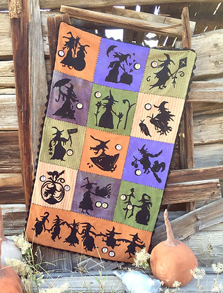 "#288 ""When Witches Fly"" Wool Appliqué Pattern"