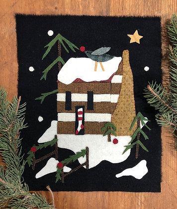 """NEW! #432 """"A Cabin Christmas"""" Block Four"""