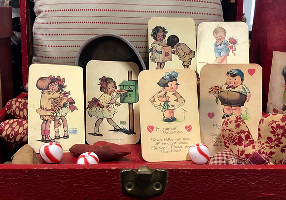 NEW!  Olde Vintage Valentine Post School Cards
