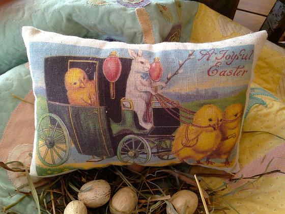 "Vintage ""A Joyful Easter"" Pantry Pillow"