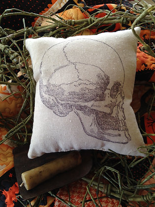 "Vintage ""Skull"" Pantry Pillow"