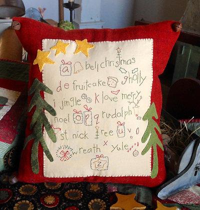 """NEW!  #264 """"ABC Christmas"""" Wool Needle Art Pattern"""