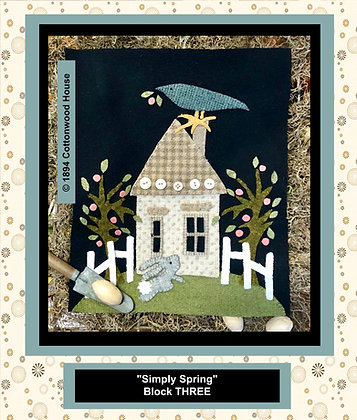 "NEW!  #552 ""Simply Spring"" BLOCK THREE"