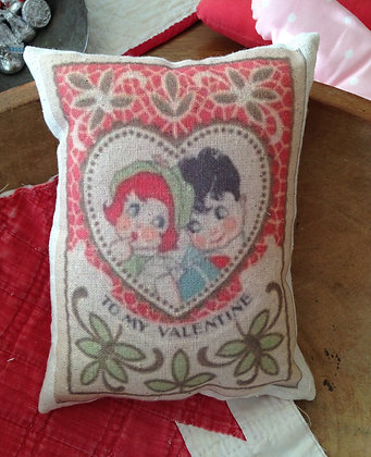 """Vintage """"To My Valentine"""" Pantry Pillow"""