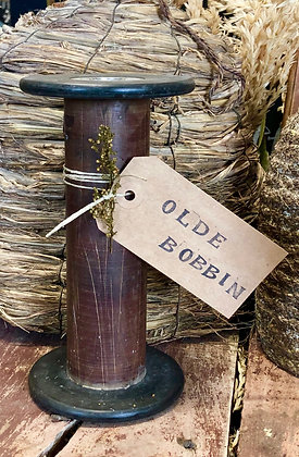 "NEW!  ""Olde Antique Wood Bobbin"" - 8"""