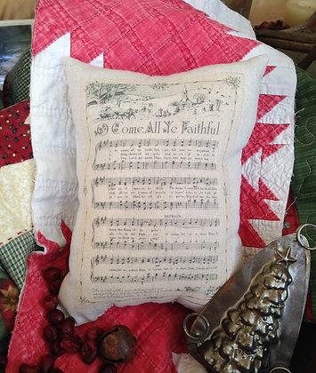 "Olde Vintage ""Ye Faithful"" Pantry Pillow"