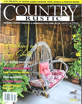 NEW!  2020 SPRING Country Rustic Magazine