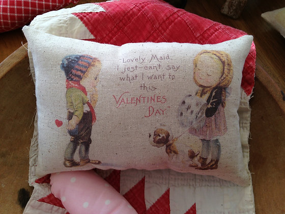"Vintage ""Lovely Maid"" Pantry Pillow"