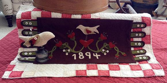 """#93 Folk Wool """"Love Byrd"""" Pattern"""