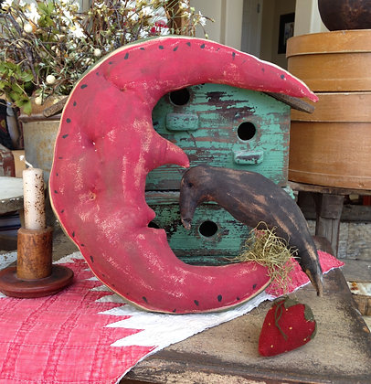 Primitive Watermelon Crow Hanger