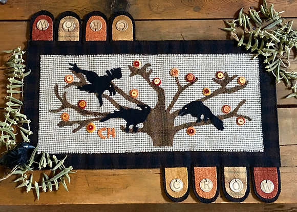 """#248 """"Crow Council"""" Wool Pattern"""