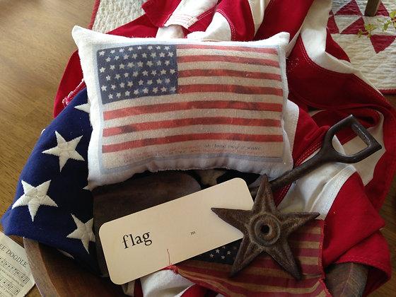 "Vintage ""Star Spangled Banner"" Pantry Pillow"