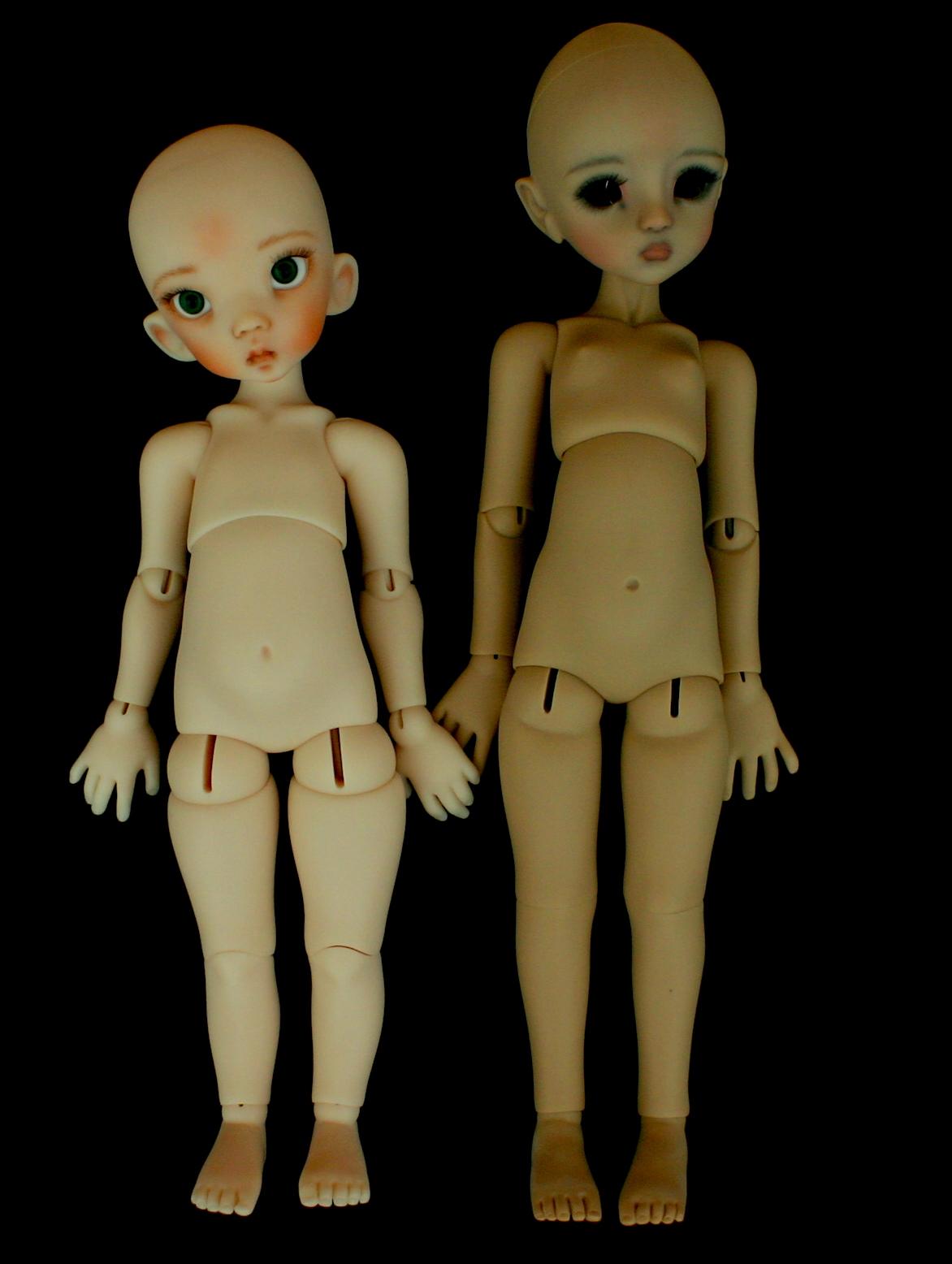 size comparison Linda/Agathe