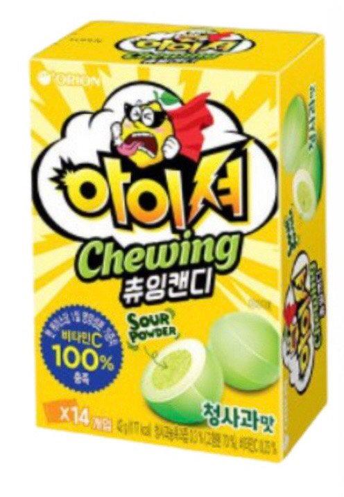 Chewing Masticable acido / sabor Manzana