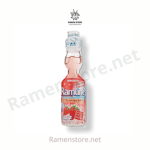 Ramune Sabor Frutilla 200ml [Bebida Japonesa]