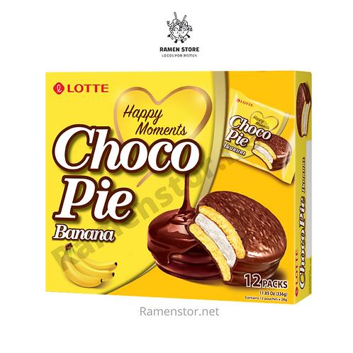 Chocopie Banana, Caja 12 Unidades, Lotte