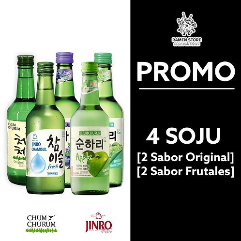 Pack de Soju [Surtidos] 4 Unidades