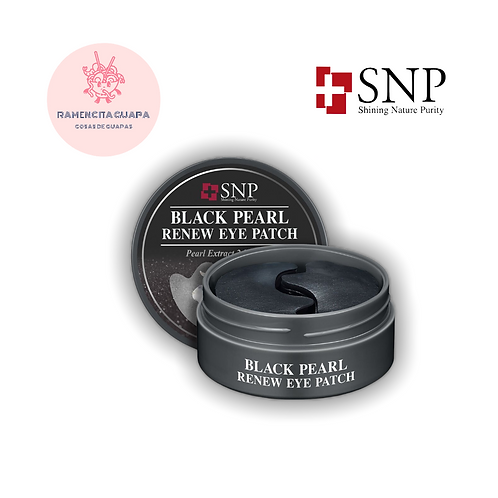 SNP Black Pearl Renew Eye Patch - Parches Ojos