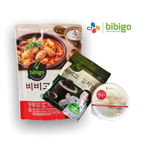 Pack Altang jjigae, Arroz y alga frita Cj ~ BIBIGO