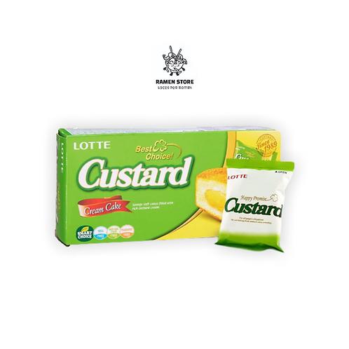 Cake Custard Lotte - Caja 6 Unidades