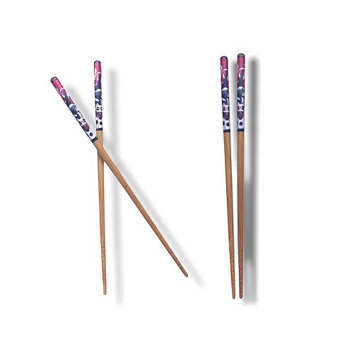 Palillo de bambu - Diseño gato 02