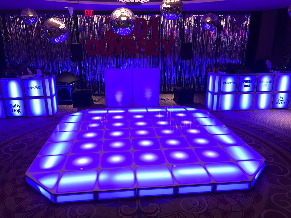 hilton hotel staten island new york  led dance floor rental
