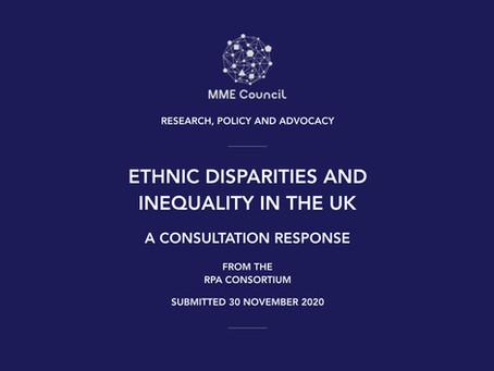 RPA Consortium Submits 'Ethnic Disparities' Consultation Response