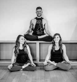 three yogis laughs bw (1)