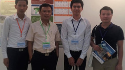 Three fresh graduates of ITC-GRU presented their research results in an international conference in